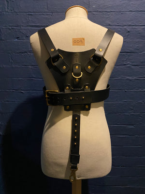 Load image into Gallery viewer, Sample Sale | Dolf | Leather | Medium | Black | OG Design