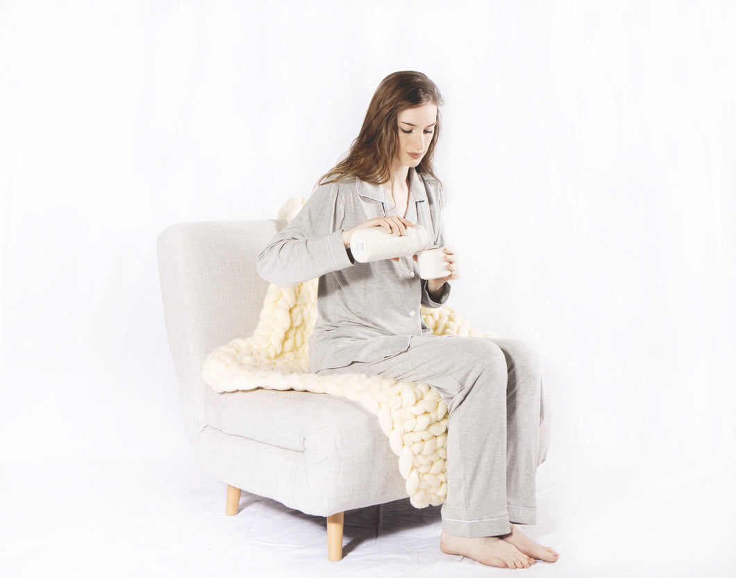 Classic Bamboo Long PJ Set