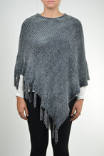 Load image into Gallery viewer, Chenille Tassel Poncho