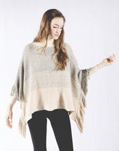 Load image into Gallery viewer, Ombre Poncho Scarf with Fringe