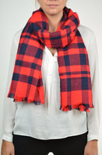 Load image into Gallery viewer, Buffalo Plaid Blanket Scarf
