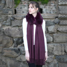 Load image into Gallery viewer, Detachable Fur Magentic Cashmere Touch Scarf