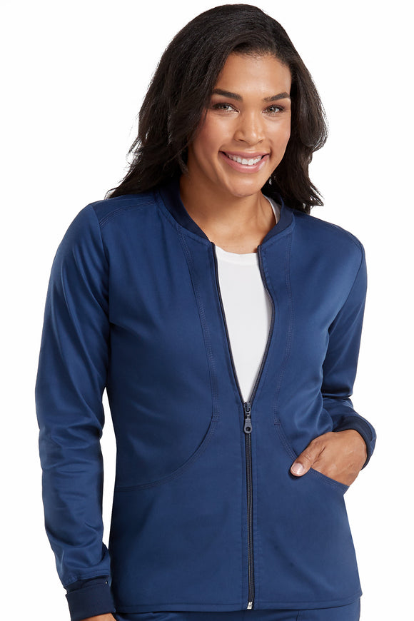 7663 - TOUCH - ZIP FRONT WARM UP IN TOUCH FABRIC XS-3X