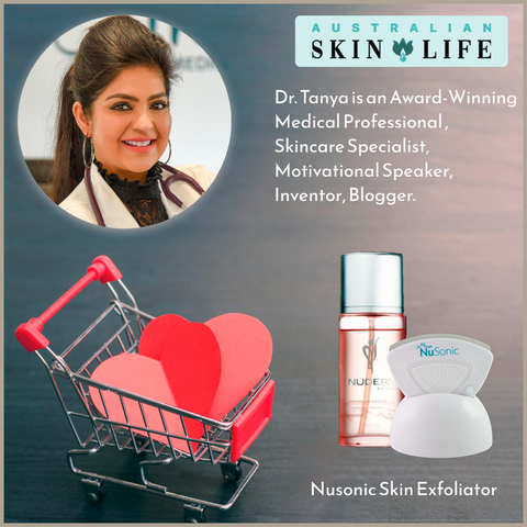 Dr. Tanya and Nusonic Skin Exfoliator
