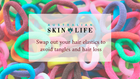 Swap out your hair elastics to Avoid Tangles and Hair loss