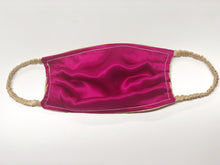 Load image into Gallery viewer, Silk Face Mask: Gold / Fuchsia