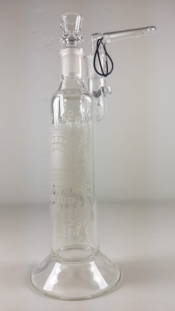 Sheldon Black Bong Clear Percs Removable Mouth Piece Design 12.5