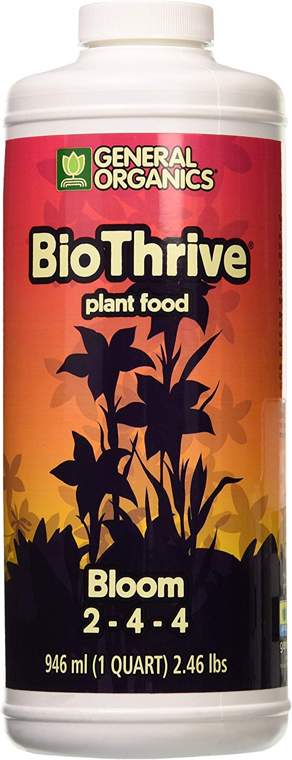 General Hydroponics Hydrofarm BioThrive Bloom, 1-Quart