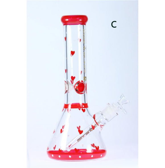 Nice Glass Bong Beaker Heart 13