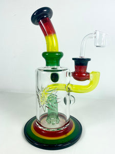 "Phat Ass Glass Rig 8.5"" Rasta"
