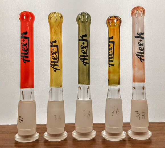 Alex K Glass 14mm to 14mm Downstem - SEVERAL COLORS AVAILABLE