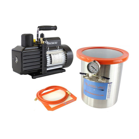 2 Gallon Resin Trap Vacuum Chamber With Pump