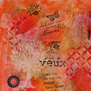 journal d'art, collage, mix media, videos gratuit