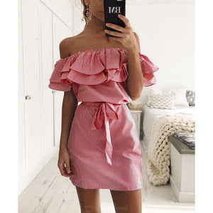 Casual Tie Waist Dress