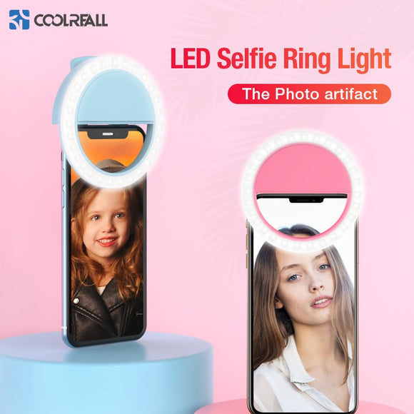 Coolreall LED Selfie Ring Light Portable Mobile Phone - BE.UNIQUE