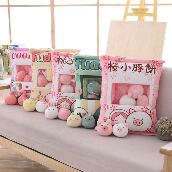 A bag of 8pcs Unicorn&Flamingo&Dinosaur&Rabbit&Pig Plush Toy Soft - BE.UNIQUE