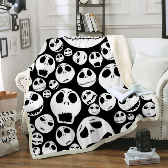 Jack Skellington Monochrome Blanket - BE.UNIQUE