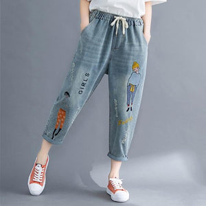 Loose High Waist Straight Jeans