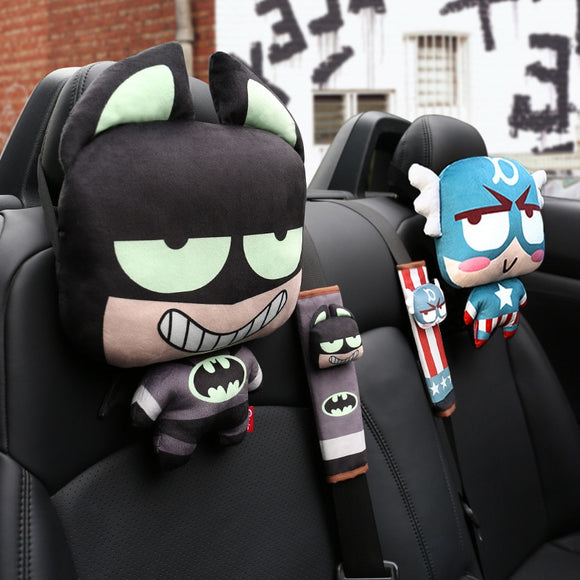 Marvel Car Accessories (Pillow + Belt) - BE.UNIQUE