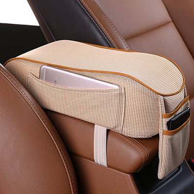 Pair Universal Comfortable PU Leather Car Seat Arm Rest Seat Console Box Armrest