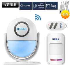 Home Security Alarm System Led Flash Light Shop Store Entry Welcome Chime Alarm Works with Alexa Smart App