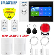 Home Burglar Security Alarm System Wire Motion DetectorSmoke Detector Alarm)