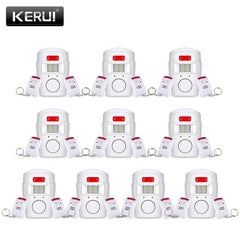 KERUI Home Security Alarm PIR Alert Infrared  Anti-theft Motion Detector Monitor Wireless Alarm System (Includes Remote Control)
