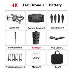 E68 Drone Helicopter Wide Angle (Kids Toys Gift)