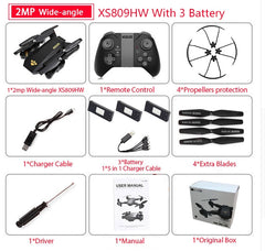 Quadcopter Mini Foldable Selfie Drone with Wifi