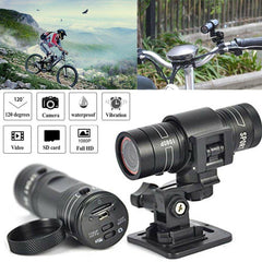 Mini camcorder F9 HD 1080P bicycle motorcycle helmet Sport spy  camera video recorder DV camcorder degree remote monitor