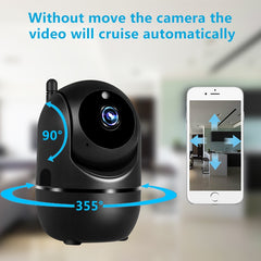 Black Smart Home Wireless Security Surveillance ( Auto Tracking Network)