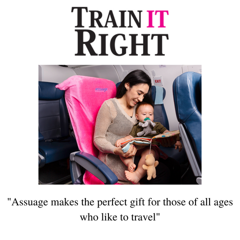 Train It Right recommends assuage seat protectors as an affordable travel gift