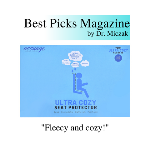 Dr. Miczak of Best Picks Magazine recommends Assuage seat protectors.