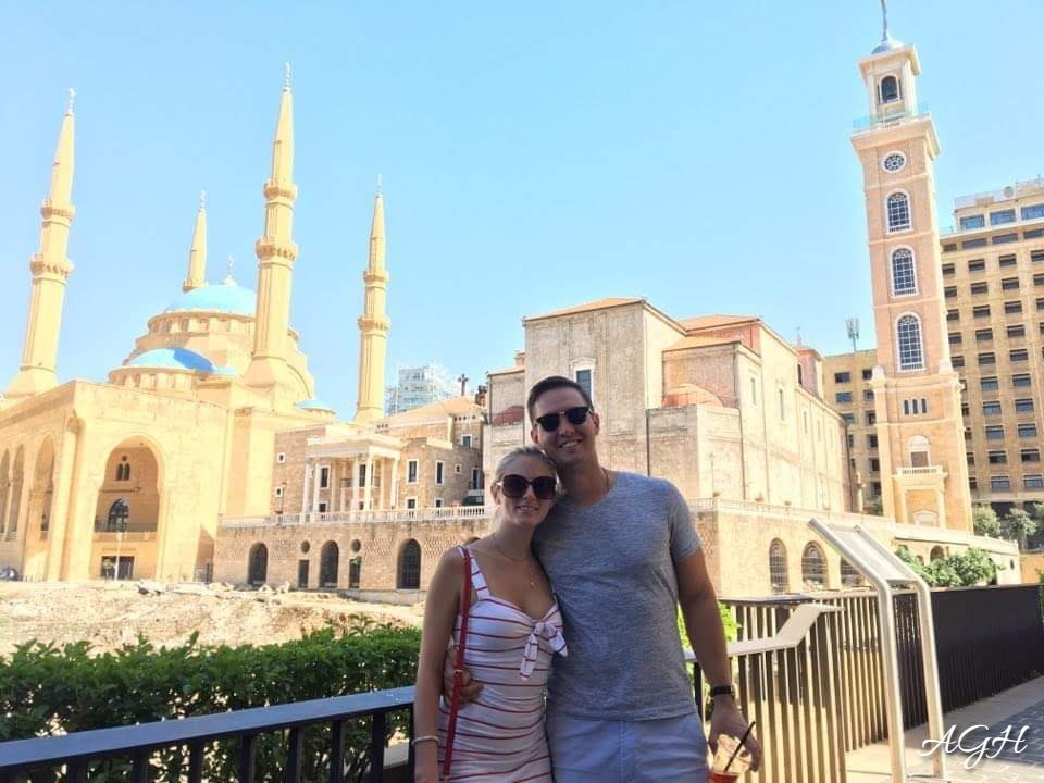A church and mosque beside each other in Beirut.