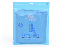 Load image into Gallery viewer, Assuage Recyclable Seat Protector Package from front.
