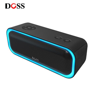 DOSS Bluetooth Speaker with Flashing LED Light Waterproof