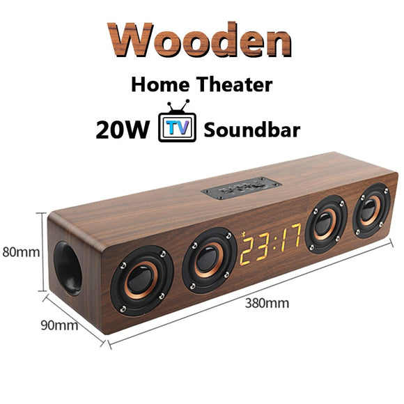 20W Wooden Bluetooth Speaker