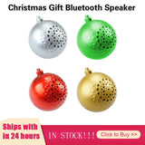 3Colors Christmas Gift Song Speaker Wireless Ball