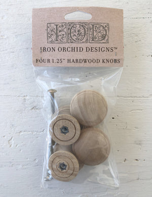 IOD Wooden Knobs 1.50 4 pack