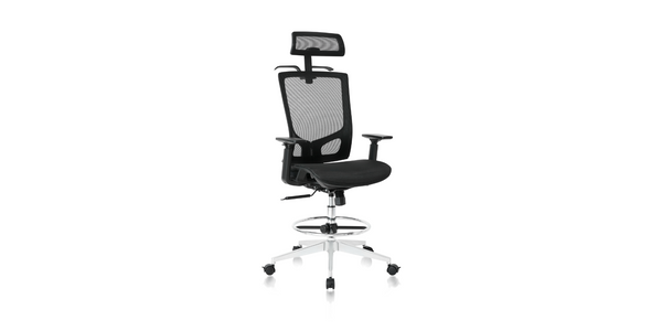 NOUHAUS® ErgoDraft Drafting, Tall Office, Stool Chair or Standing Desk Chair