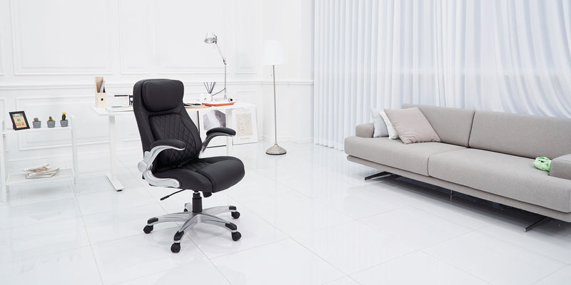 NOUHAUS® Posture Ergonomic PU Leather Office Chair Patented 'Click5' Lumbar Support