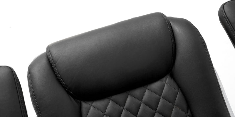 NOUHAUS Posture Ergonomic PU Leather Office Chair Patented 'Click5' Lumbar Support