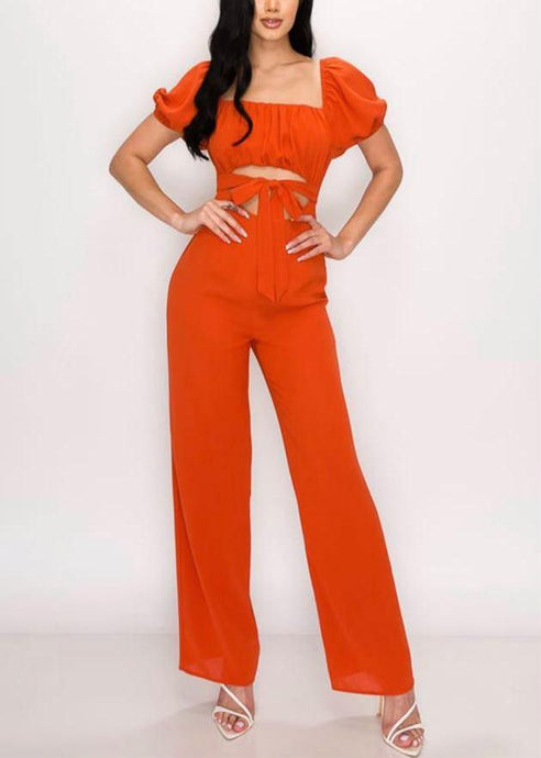 Burnt Orange Jumpsuit
