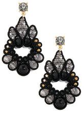 Load image into Gallery viewer, Hand Beaded Crystal Teardrop Earring