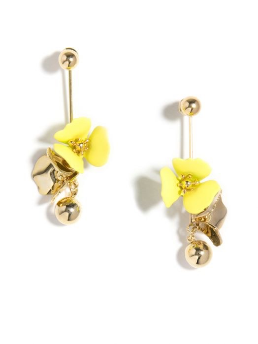 Floral Ball Drop Earring