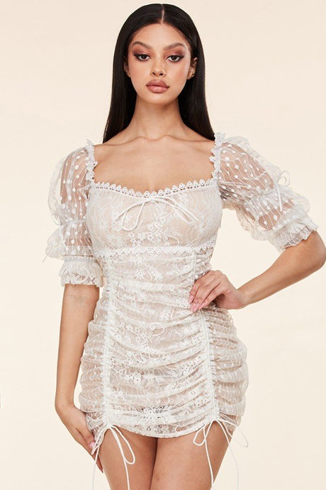 Maribel Intricate Lace Dress