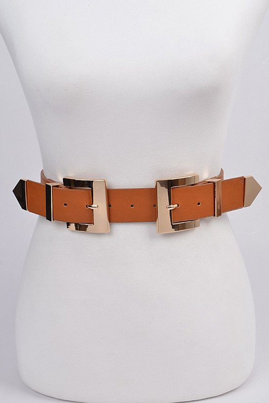 Double Square Buckle Belt