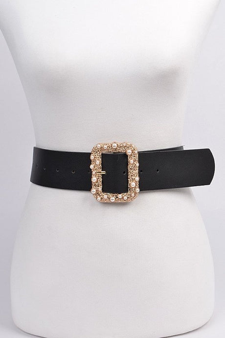 Belt Rectangle Pearl Gold