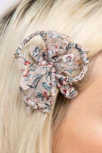 Floral Clip-On Hairpin