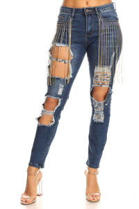 Fashion Jeans with Chair
